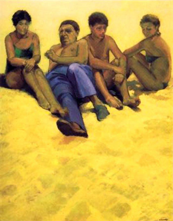 La imagen tiene un atributo ALT vacío; su nombre de archivo es 75-carmen_charro_garcia-familia_en_la_playa_1988-700x893.jpg