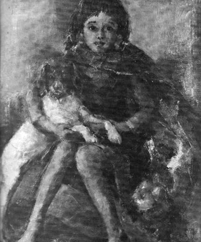 La imagen tiene un atributo ALT vacío; su nombre de archivo es 78-elvira_medina_castro-una_niña_con_un_perro-700x842.jpg